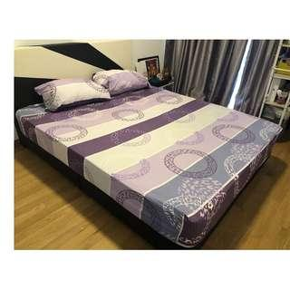 Queen Size Bedsheets and Two Pillow Covers