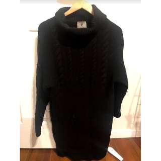 David Lawrence DL Atelier - Black Cable Knit Jumper - Size Small (8)