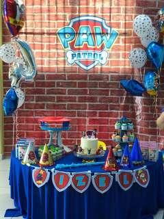 Paw Patrol party Backdrop