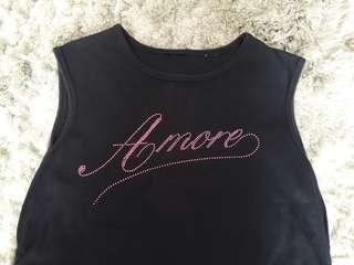 Tshirt Amore black sleeveless