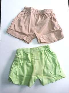 🚚 2 pcs Luvable Friends 0-3 months Short Pant IBY03317Y0-3 G4R