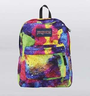 Original Jansport Backpack (multi neon galaxy)