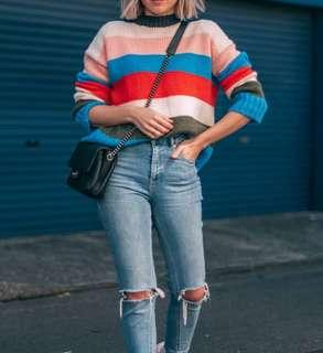 Urban Outfitters striped knitted sweater.