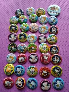 Hello kitty扣針 ~$30 for all