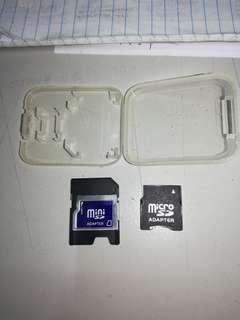 Micro SD-mini SD-SD Card adapter