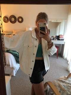 White denim jacket new oversized
