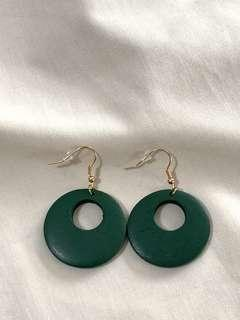 [PRE ORDER] Green Wood Earring