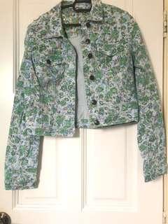 (REDUCED)Floral Jeans Jacket