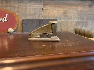 Antique Vintage stapler metal Industrial Age 1920S
