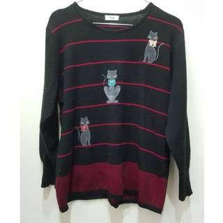 🚚 👞 💰【#半價衣服市集】就能加入活動喔👞 💰Verger可愛刺繡貓咪毛衣