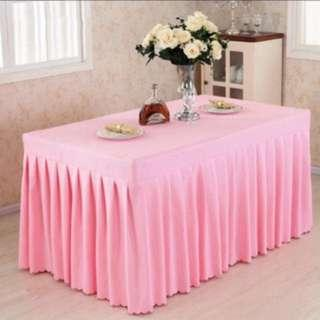 New Pink Thick Satin Table Cloth