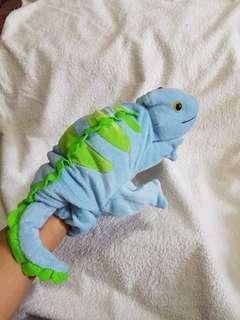 Authentic Caltoy Plush Iguana Hand Puppet