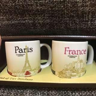🚚 全新Starbucks Paris France 法國 巴黎 espresso 杯杯組  (3oz) Global Icon Collection Mug Set #法國帶回