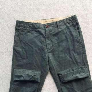 GAP THE LIVED IN SKINNY CHINOS LP GREEN STRAIGH PANTS