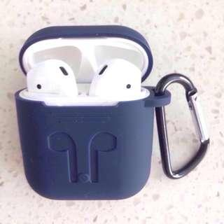Elegant AirPods Case Silicone Sleeve & Carabiner (FOC mail)