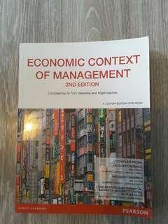 Economic context of management