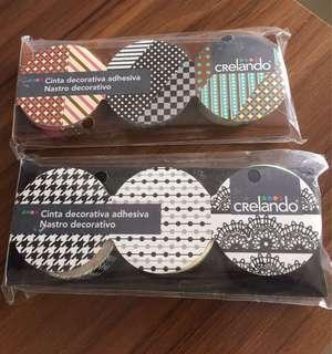 Crelando Cinta Decorative Adhersive tags 裝飾花紋膠紙 6卷