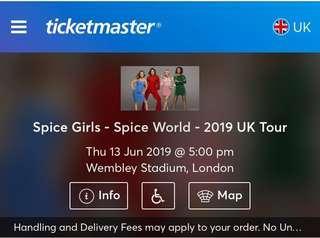 Tiket Spice Girl UK Tour June 13, 2019. Dm me for more info