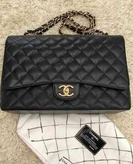 Chanel Maxi Caviar Single Flap GHW