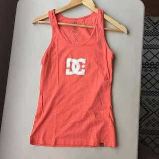 DC Coral Tank Top Slim Fit Sportswear Activewear Cotton