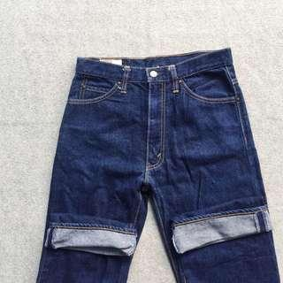 BOBSON LOT 4011 AUTH WESTERN JEANS STRAIGH FIT PANTS BLUE