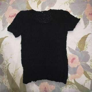 🚚 Knitted black top blouse