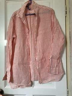 Uniqlo Pink Stripes Shirt