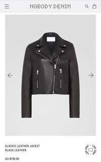 Nobody Denim Leather Jacket