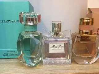Trio - Tiffany 30 ml , Miss Dior 50 ml , Chloe Nomade 30 ml