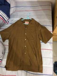 Vintage aloha shirt 啡色古巴恤衫