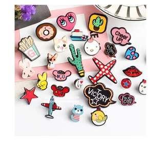 🚚 Assorted Brooch / Enamel Pins (PO)