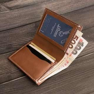 皮革材料包】三卡相片迷你短銀包 BSP081