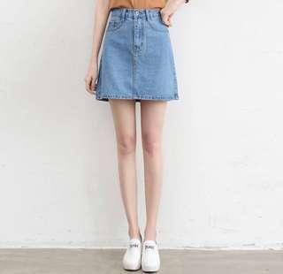 High Waisted Denim Skirt (PO)