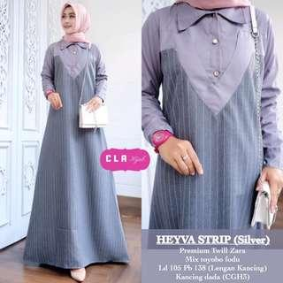 🚚 4 colors Jubah long dress (DRESS ONLY)