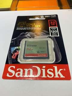 Sandisk extreme 32gb 120mbs
