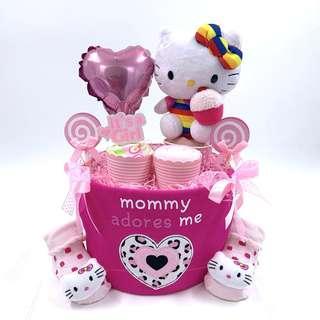 🚚 Ready Stock! Hello Kitty Baby Diapers Cake