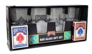 Bicycle Bar Glass Gift Set