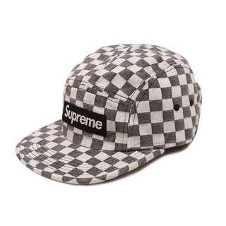 SUPREME CHECKERBOARD CAMP CAP