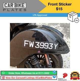 Front Sticker
