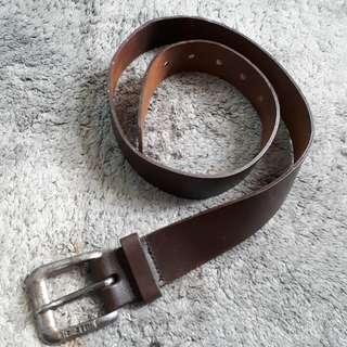 BENNETON BELT AUTHENTIC LEATHER (BROWN)