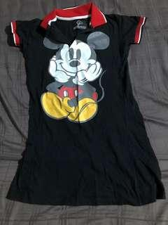 Cute Mickey Dress Young Look Casual Wear