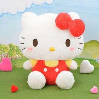 Jumbo Sized Fluffy Ver. Hello Kitty in Yellow& Red Costume