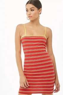 Promo A : Bnwt f21 red striped dress