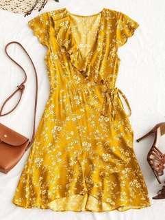 ZAFUL INSPIRED WRAPPED AROUND DRESS