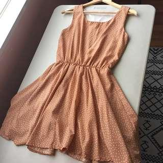Blush Peach Polka Dot Dress
