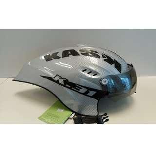 Kask K-31 Crono Carbon Silver with Fume/Mirror Visor 53-61cm 50% OFF