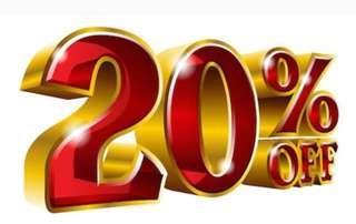 Disc 20% s/d 31 Maret