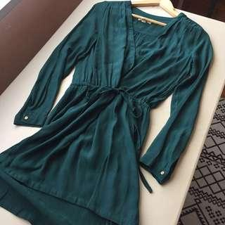 Mango Elegant Turquoise Dress