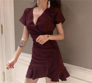dress wine red