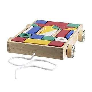 ONHAND Ikea Mula Wooden Wagon
